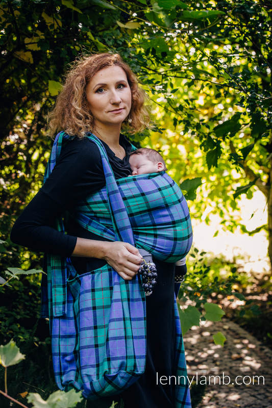 Hobo Bag made of woven fabric, 100% cotton - COUNTRYSIDE PLAID #babywearing