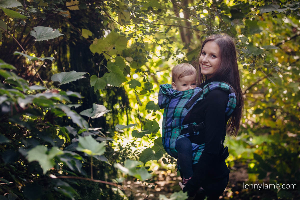 Ergonomic Carrier, Toddler Size, twill weave 100% cotton - wrap conversion from COUNTRYSIDE PLAID - Second Generation. #babywearing