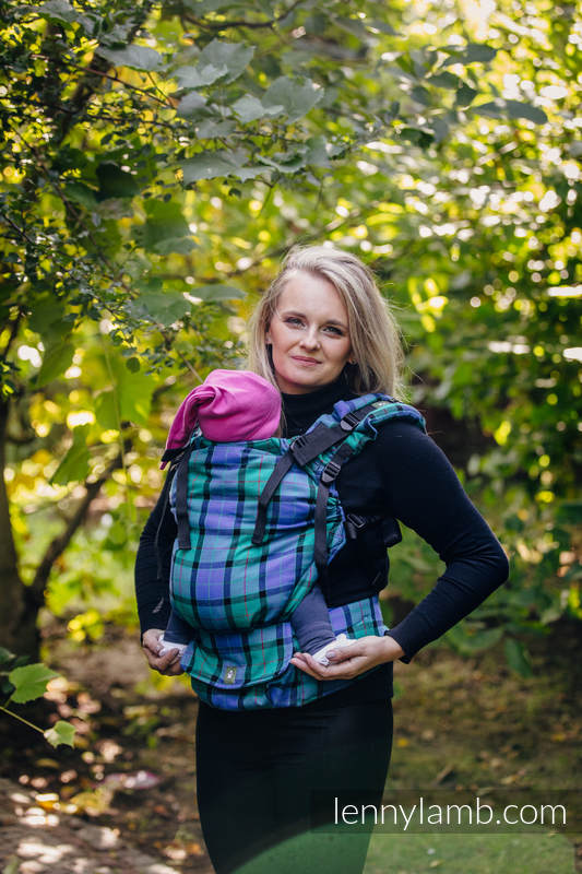 LennyUp Carrier, Standard Size, twill weave 100% cotton - wrap conversion from COUNTRYSIDE PLAID #babywearing