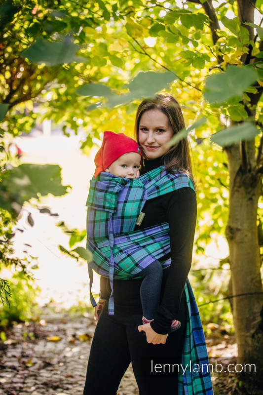 WRAP-TAI carrier Mini, twill weave - 100% cotton - with hood, COUNTRYSIDE PLAID #babywearing