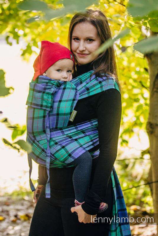 Nosidełko dla dzieci WRAP-TAI TODDLER, 100 % bawełna, splot skośny, z kapturkiem, SIELSKA KRATA #babywearing