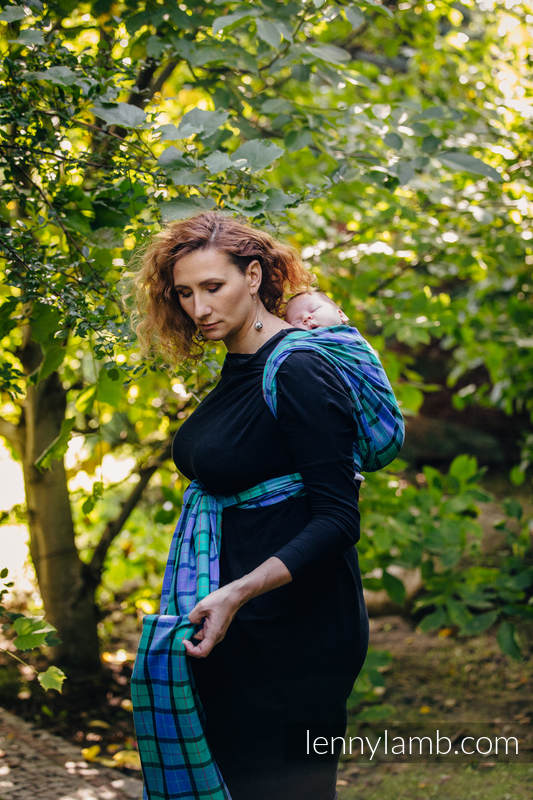 Baby Sling, Twill Weave, 100% cotton,  COUNTRYSIDE PLAID - size M #babywearing
