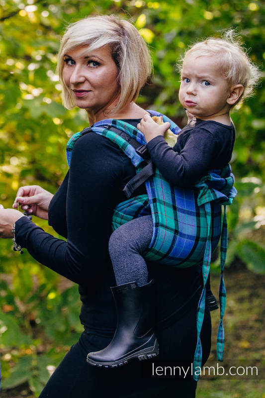 Lenny Buckle Onbuhimo, toddler size, twill weave (100% cotton) - Wrap conversion from COUNTRYSIDE PLAID #babywearing