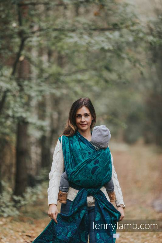 Écharpe, jacquard (100% coton) - UNDER THE LEAVES - taille M #babywearing