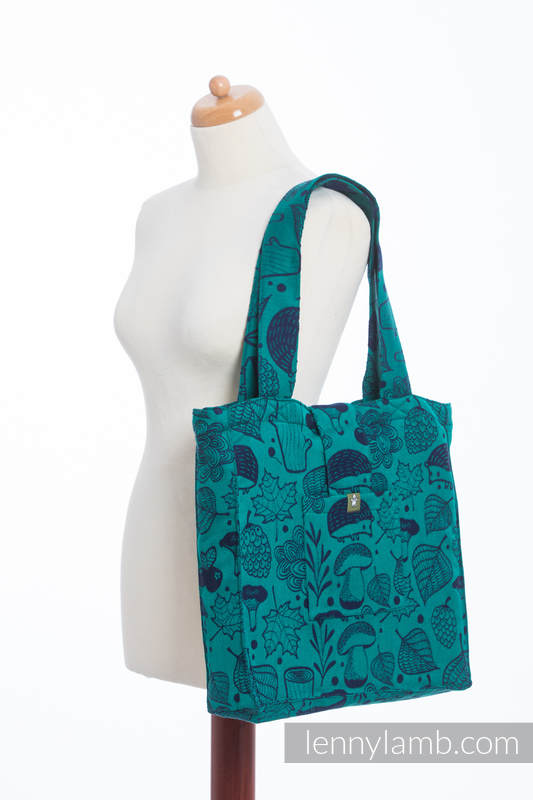 Shoulder bag made of wrap fabric (100% cotton) - UNDER THE LEAVES - standard size 37cmx37cm #babywearing