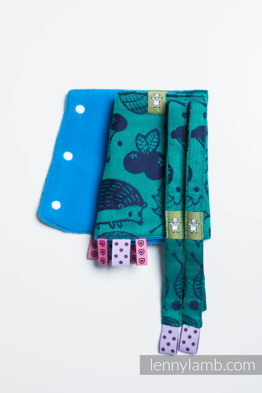 Drool Pads & Reach Straps Set, (60% cotton, 40% polyester) - UNDER THE LEAVES #babywearing