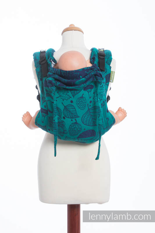 Lenny Buckle Onbuhimo baby carrier, standard size, jacquard weave (100% cotton) - UNDER THE LEAVES #babywearing