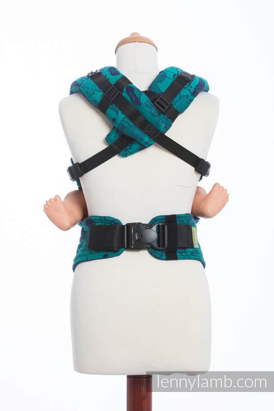 Nosidełko Ergonomiczne z tkaniny żakardowej 100% bawełna , Toddler Size, POD LIŚCIEM - Druga Generacja #babywearing