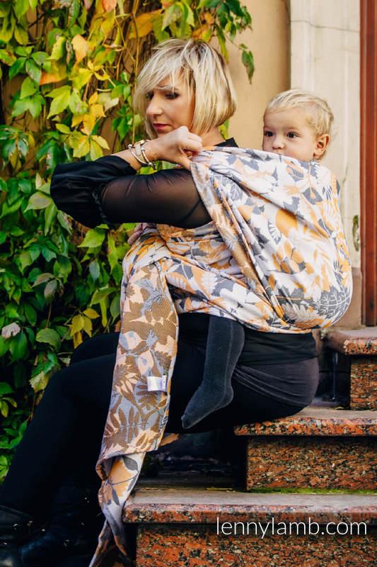 Tragetuch, Jacquardwebung (100% Baumwolle) - WHIFF OF AUTUMN - Größe XL #babywearing