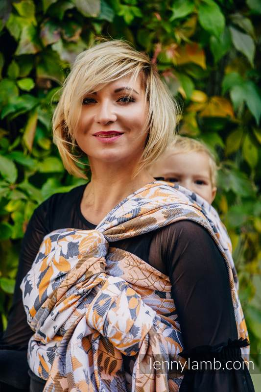 Baby Wrap, Jacquard Weave (100% cotton) - WHIFF OF AUTUMN - size XL #babywearing
