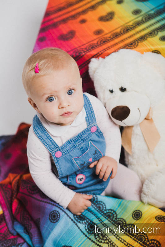 Swaddle Blanket - RAINBOW LACE DARK (grade B) #babywearing