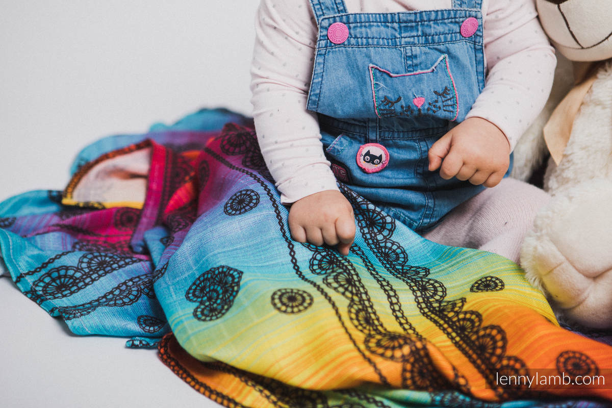 Swaddle Wrap - RAINBOW LACE DARK (grade B) #babywearing