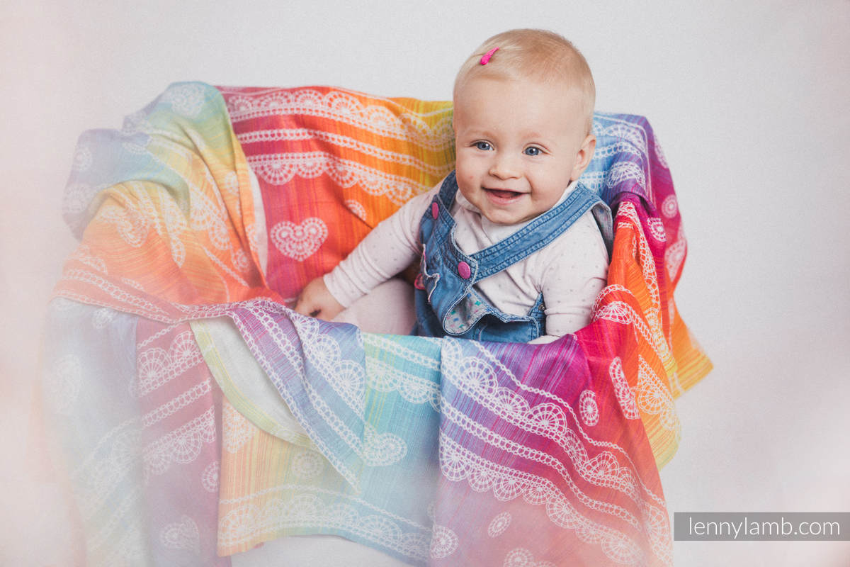 Muslin Square - RAINBOW LACE #babywearing