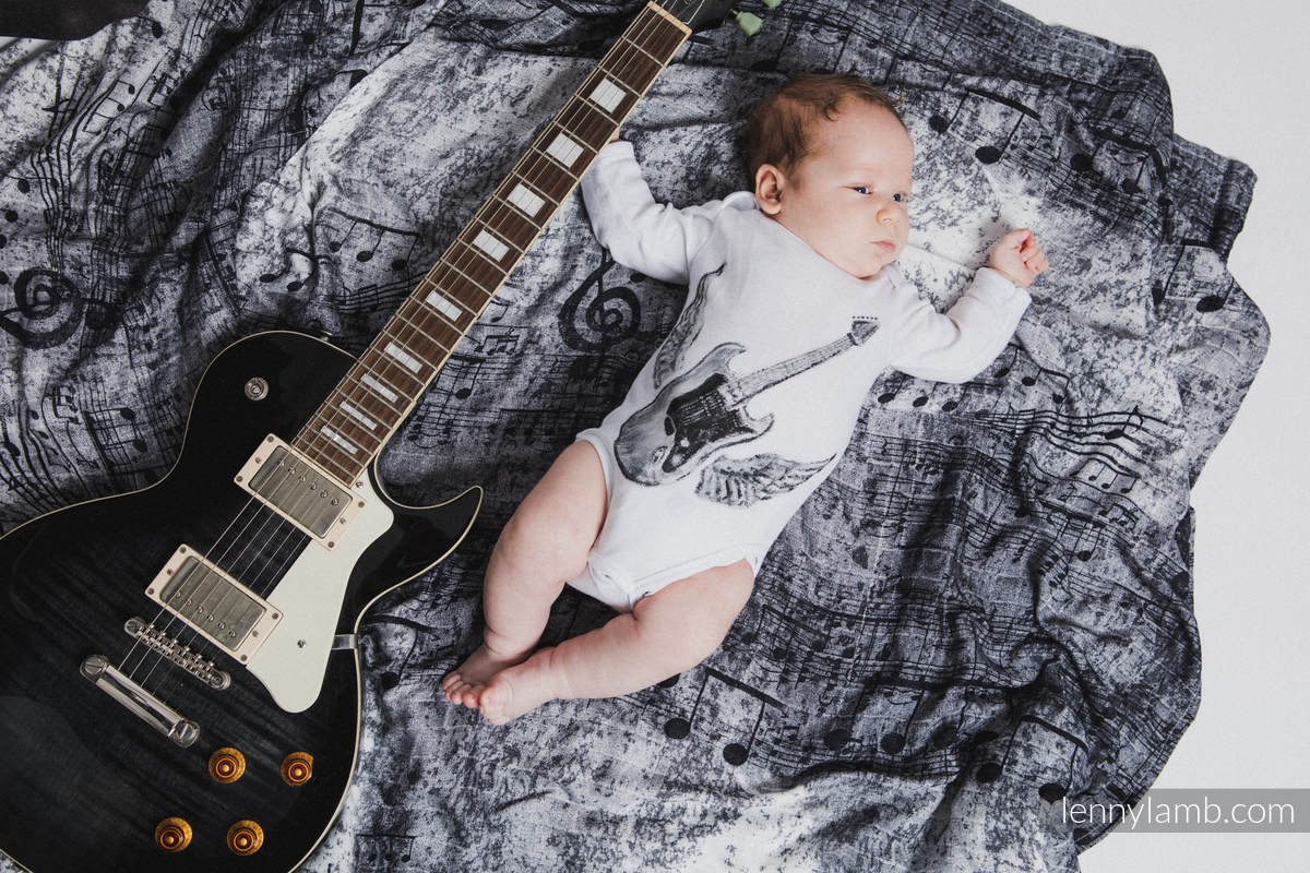 Muslin Square - SYMPHONY BLACK & WHITE #babywearing