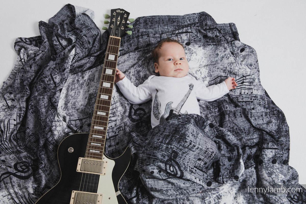 Zestaw Otulaczy Bambusowych - SYMFONIA TĘCZOWA LIGHT, SYMFONIA CZERŃ Z BIELĄ #babywearing