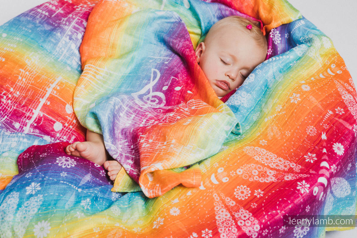 Muslin Square - SYMPHONY RAINBOW LIGHT #babywearing