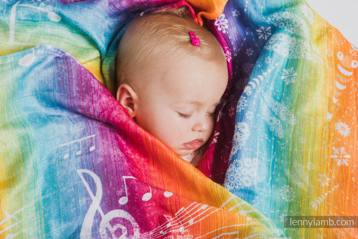 Muselina - SYMPHONY RAINBOW LIGHT #babywearing