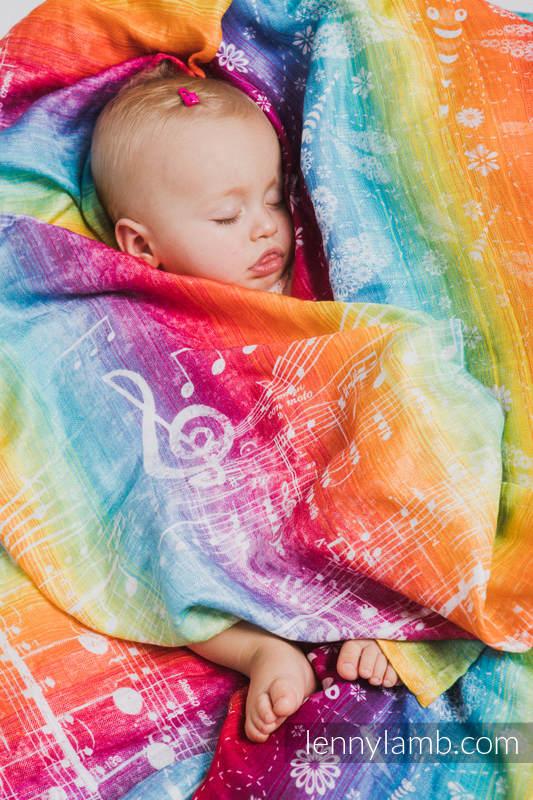 Swaddle Wrap - SYMPHONY RAINBOW LIGHT #babywearing