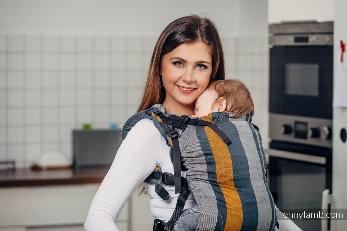 LennyUp Tragehilfe, Größe Standard, Kreuzköper-Bindung, 100% Baumwolle - SMOKY - HONEY #babywearing