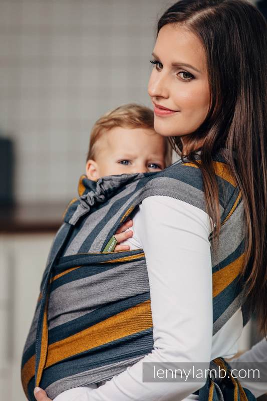 WRAP-TAI carrier Toddler, broken-twill weave - 100% cotton - with hood, SMOKY - HONEY #babywearing