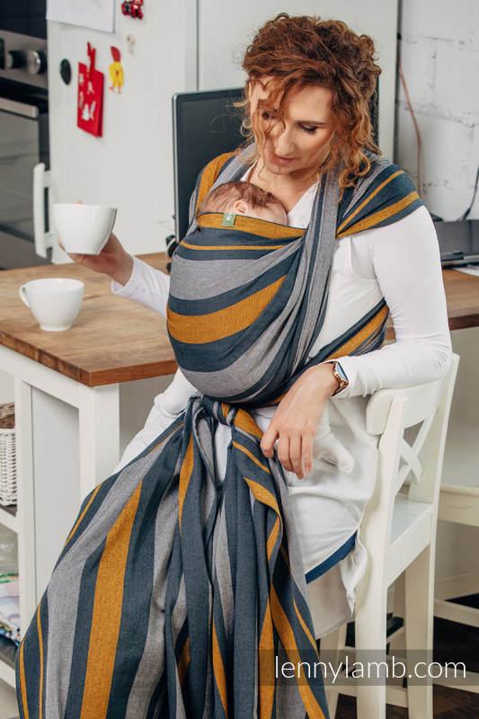 Baby Sling, Broken Twill Weave, 100% cotton,  SMOKY - HONEY - size XS (grade B) #babywearing