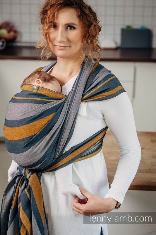Baby Sling, Broken Twill Weave, 100% cotton,  SMOKY - HONEY - size S #babywearing