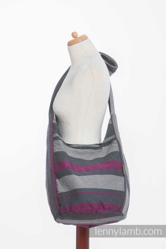 Hobo Bag made of woven fabric, 100% cotton - SMOKY - FUCHSIA  #babywearing