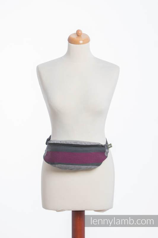 Waist Bag made of woven fabric, (100% cotton) - SMOKY - FUCHSIA  #babywearing