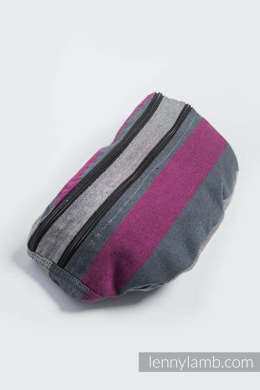 Waist Bag made of woven fabric, size large (100% cotton) - SMOKY - FUCHSIA  #babywearing