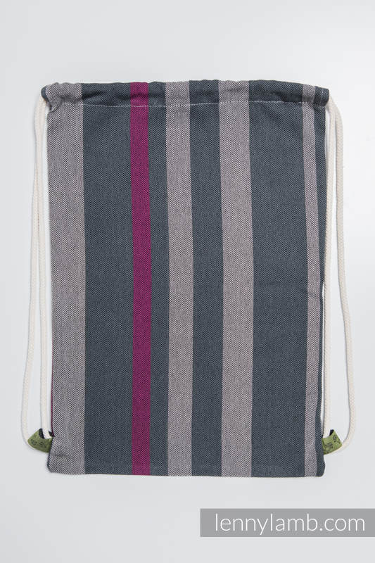 Sackpack made of wrap fabric (100% cotton) - SMOKY - FUCHSIA - standard size 32cmx43cm #babywearing