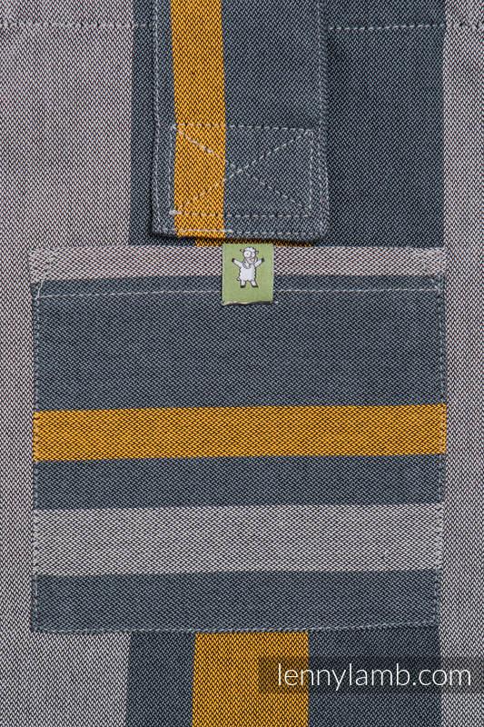 Torba na ramię z materiału chustowego, (100% bawełna) - SMOKY - MIÓD - uniwersalny rozmiar 37cmx37cm #babywearing