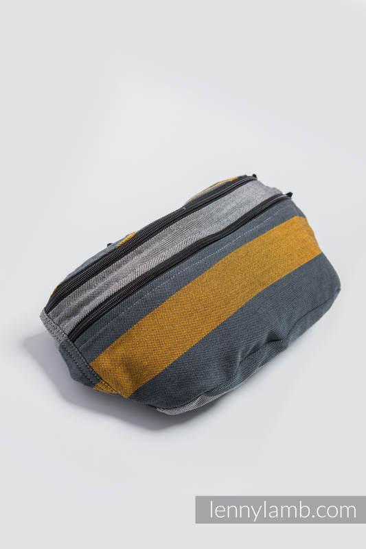 Waist Bag made of woven fabric, size large (100% cotton) - SMOKY - HONEY #babywearing