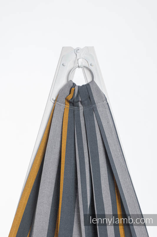 Ringsling, Broken twill Weave (100% cotton) - SMOKY - HONEY - standard 1.8m #babywearing
