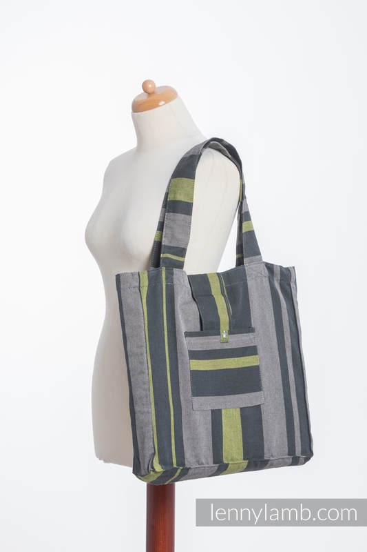 Shoulder bag made of wrap fabric (100% cotton) - SMOKY - LIME - standard size 37cmx37cm #babywearing