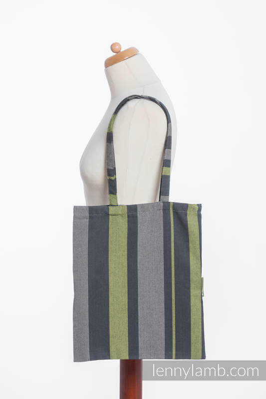 Shopping bag made of wrap fabric (100% cotton) - SMOKY - LIME  #babywearing