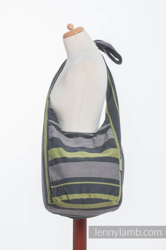 Torba Hobo z materiału chustowego, (100% bawełna) - SMOKY - LIMONKA  #babywearing