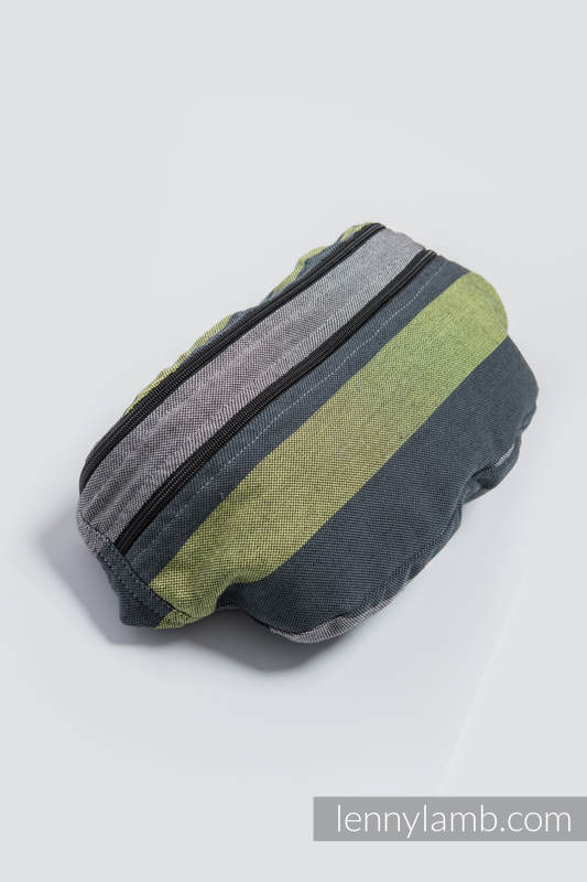 Waist Bag made of woven fabric, size large (100% cotton) - SMOKY - LIME  #babywearing