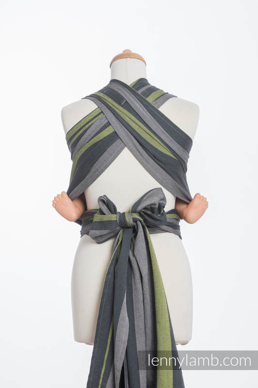 WRAP-TAI carrier Toddler, broken-twill weave - 100% cotton - with hood, SMOKY - LIME  #babywearing