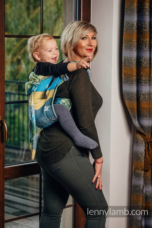 Lenny Buckle Onbuhimo baby carrier, toddler size, jacquard weave (100% cotton) - WANDER  #babywearing