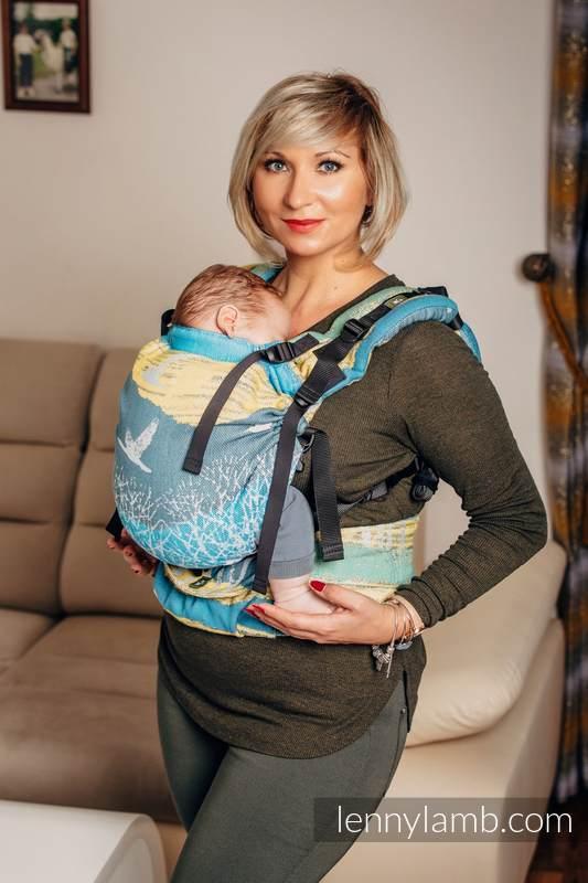 LennyUp Carrier, Standard Size, jacquard weave 100% cotton - WANDER  #babywearing