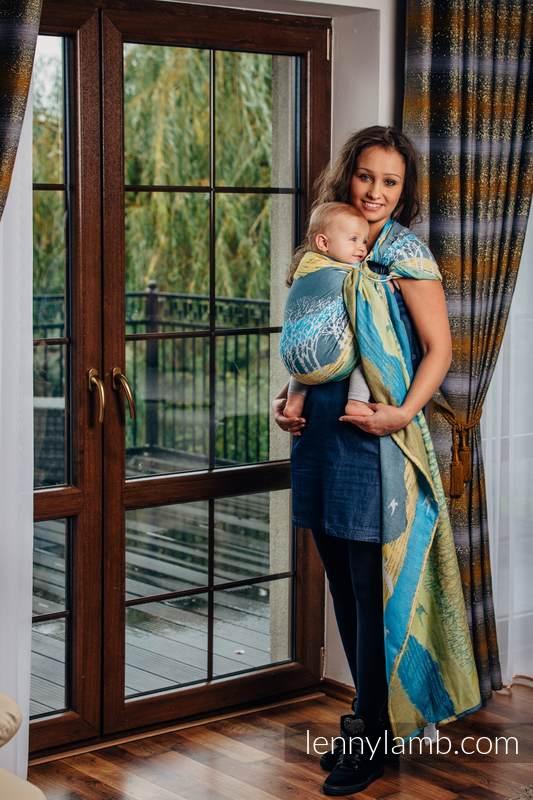 Ringsling, Jacquard Weave (100% cotton) - with gathered shoulder - WANDER  - long 2.1m #babywearing