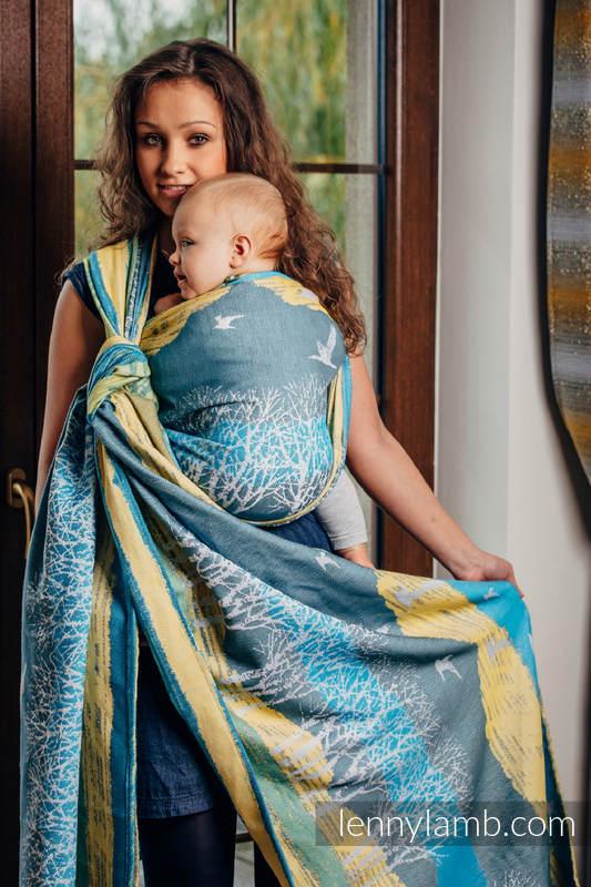 Baby Wrap, Jacquard Weave (100% cotton) - WANDER - size M (grade B) #babywearing