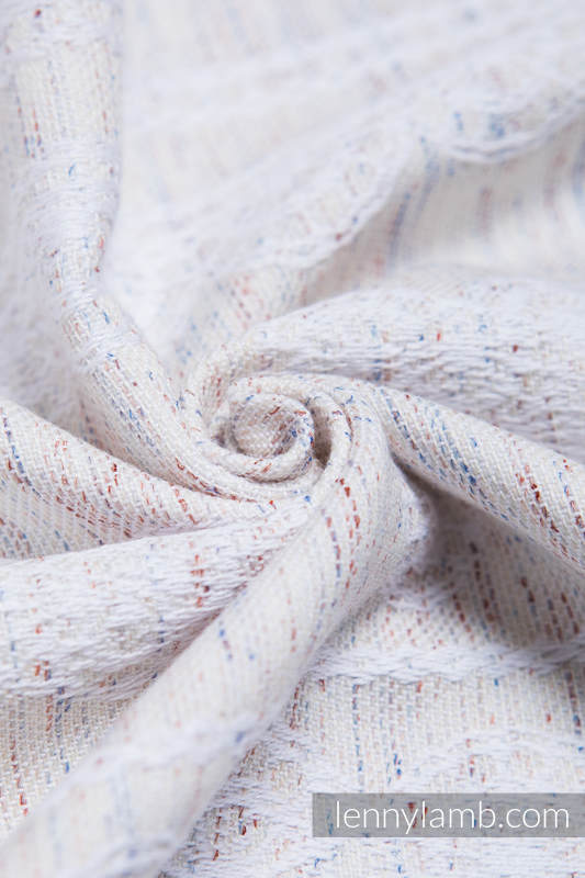 Baby Wrap, Jacquard Weave (80% cotton, 17% merino wool, 2% silk, 1% cashmere) - VINTAGE LACE - size XS #babywearing