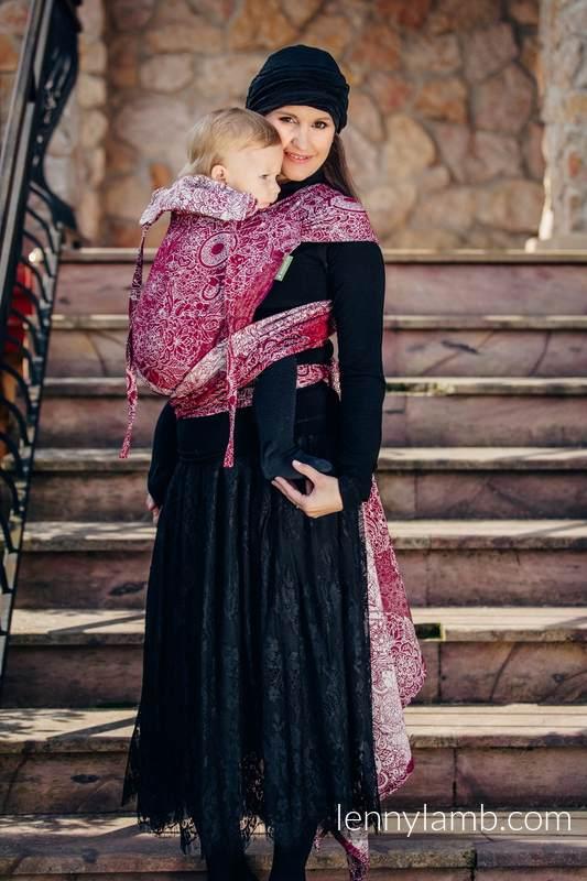 WRAP-TAI carrier Toddler with hood/ jacquard twill / 100% cotton / WILD WINE  #babywearing