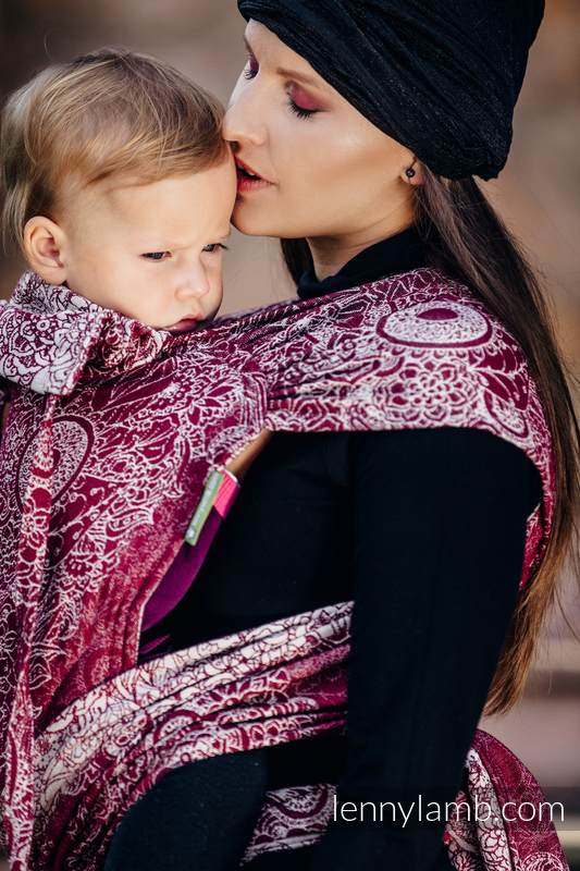 WRAP-TAI carrier Toddler with hood/ jacquard twill / 100% cotton / WILD WINE  #babywearing