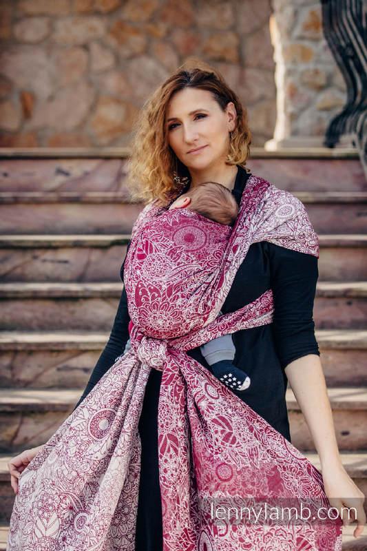 Baby Wrap, Jacquard Weave (100% cotton) - WILD WINE  - size L #babywearing