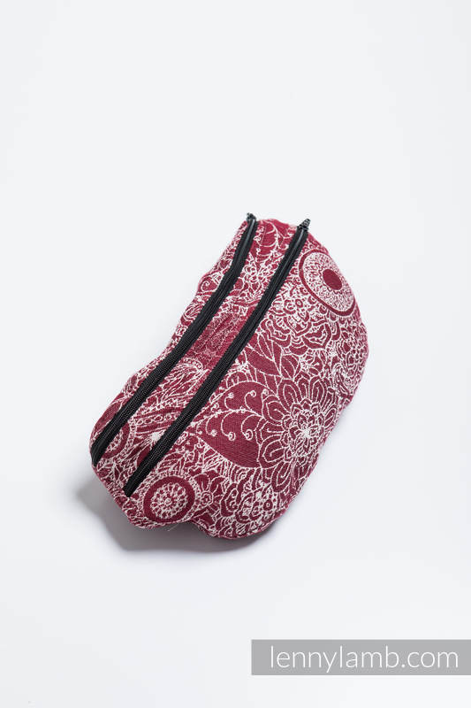 Waist Bag made of woven fabric, size large (100% cotton) - WILD WINE  #babywearing