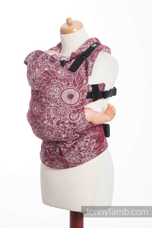 Nosidełko Ergonomiczne z tkaniny żakardowej 100% bawełna , Baby Size, DZIKIE WINO - Druga Generacja #babywearing