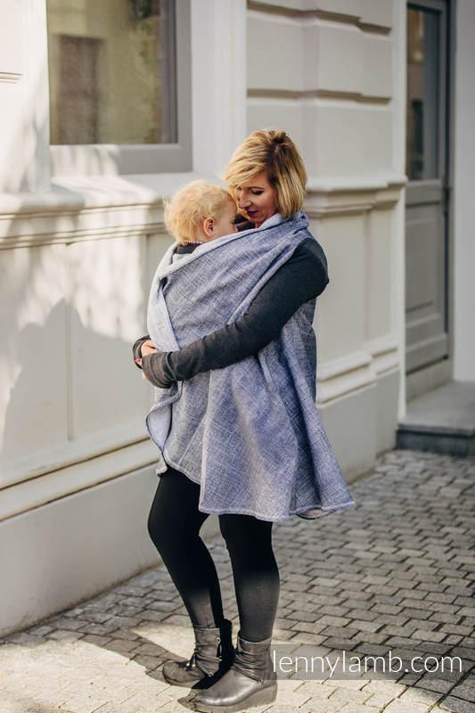 Langer Cardigan - Größe L/XL - Denim Blue #babywearing