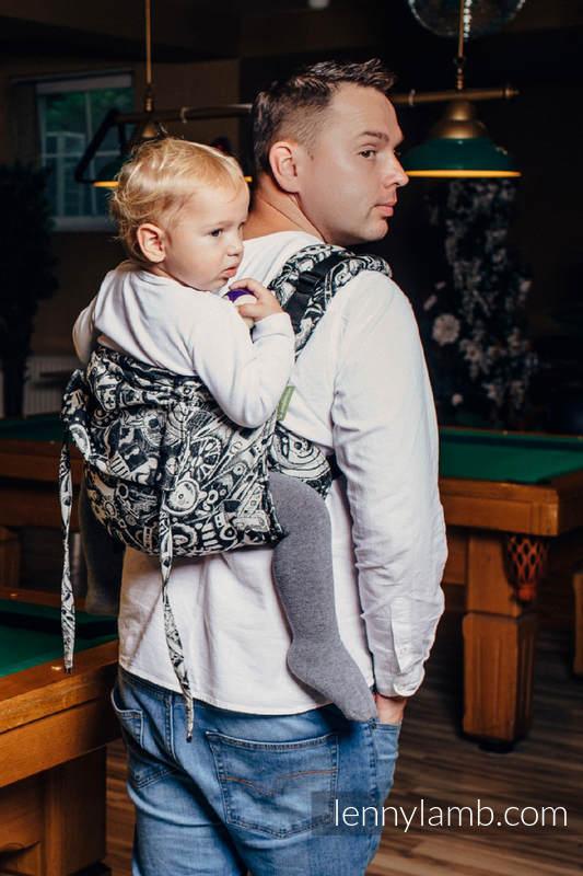Nosidło Klamrowe ONBUHIMO z tkaniny żakardowej (100% bawełna), rozmiar Toddler - MECHANIZM  #babywearing